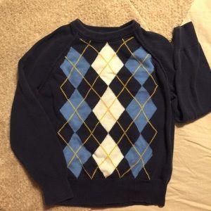 Cherokee argyle navy sweater